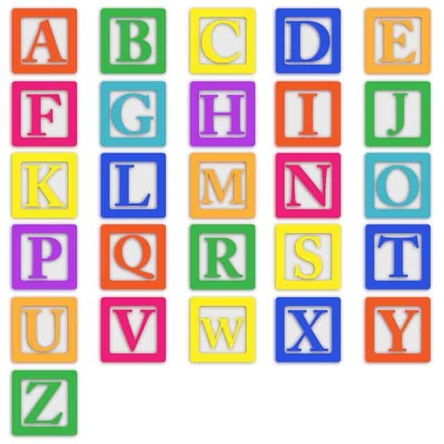 Newborn development toys by letters